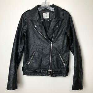 H&M Youth Black Biker Jacket